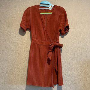 Me to We Stripped Wrap Dress